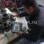 Ultrasonic testing of the master cylinder hydraulic motor Sisu 500